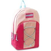 Trailmaker Girls Peach Blue Bungee Durable School Backpack