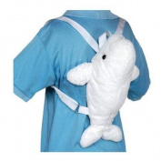 Beluga Whale Backpack 28cm by Fiesta