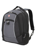 SwissGear 6719204406 Polyester Backpack - Black & Grey 46cm .