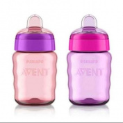Philips Avent My Easy Sippy Spout Cup 270ml 2 Pack - Girl