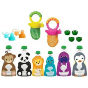Munchkin Fresh Food Feeders with Squooshi Food Pouch Starter Kit
