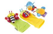 Lamaze Gardenbug Foot Finder and Wrist Rattle Set Multi-Coloured