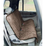 Yes Pets 59-90299TAN Quilt Suede Waterproof Tear Proof Bench Style Car Seat Cover - 100 Percent Polyester Tan