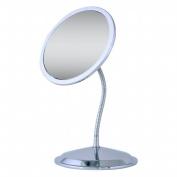 Ovente MLI26C Ovente MLI26C 5x-8x Vanity Gooseneck Mirror with Suction Cups, Chrome