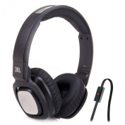 JBL J55a BLK High Performance On Ear Headphones with JBL Drivers, Rotatable Ear Cups and Microphone, Black (Discontinued