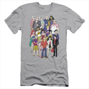 Archie Comics-Cast - Short Sleeve Adult 30-1 Tee Silver - Large