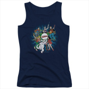 Archie Comics-Psychadelic Archies - Juniors Tank Top Navy - Extra Large