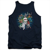 Archie Comics-Psychadelic Archies - Adult Tank Top Navy - Extra Large
