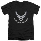 Air Force-Logo - Short Sleeve Adult 30-1 Tee Black - Large