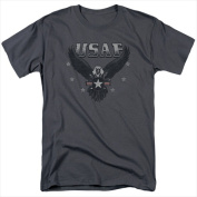 Air Force-Incoming - Short Sleeve Adult 18-1 Tee Charcoal - 4X