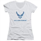 Air Force-Distressed Logo - Junior Tee White - Extra Large
