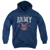 Army-Arch - Youth Pull-Over Hoodie Navy - Small