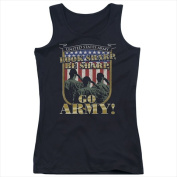Army-Go Army - Juniors Tank Top Black - Small