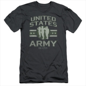 Army-United States Army - Short Sleeve Adult 30-1 Tee Charcoal - Medium