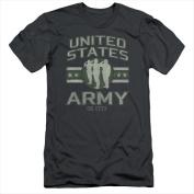 Army-United States Army - Short Sleeve Adult 30-1 Tee Charcoal - Medium