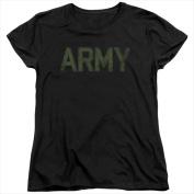 Army - Short Sleeve Womens Tee Tee Black - Medium