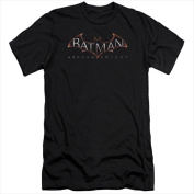 Batman Arkham Knight-Logo - Short Sleeve Adult 30-1 Tee Black - 2X