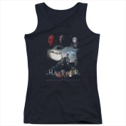 Batman Arkham Knight-Villain Storm - Juniors Tank Top Black - Medium