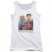 Boop-Hollywood - Juniors Tank Top White - Extra Large