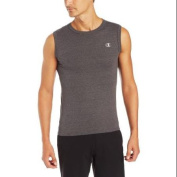 Hanes T2231 Champion Cotton Jersey Mens Muscle Tee Size Small - Granite Heather Grey