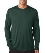 Champion CW26 Adult Double Dry Long-Sleeve Interlock T-Shirt - Dark Green Medium