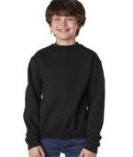 Jerzees 4662B Youth Super Sweats Crew Neck Sweatshirt - Black Large