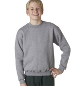 Jerzees 4662B Youth Super Sweats Crew Neck Sweatshirt - Oxford Large