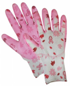 Magid Glove BC314TS Small Breast Cancer Foundation Nitrile Coated Utility Gloves