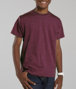 LAT L6105 Youth Vintage Fine Jersey T-Shirt - Vintage Burgundy Small