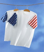 Code V 3976 Adult Jersey Stars & Stripes T-Shirt White & Flag Medium