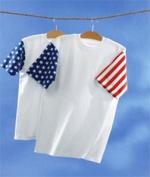 Code V 3976 Adult Jersey Stars & Stripes T-Shirt White & Flag Medium