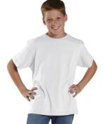 LAT 6101 Youth Fine Jersey T-Shirt - White Extra Small