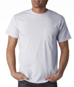FOL 3930P Adult Heavy Cotton T-Shirt with Pocket Ash Extra Large