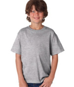 FOL 3930B Youth Heavy Cotton T-Shirt Athletic Heather Small