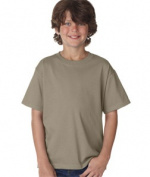 FOL 3930B Youth Heavy Cotton T-Shirt Khaki Small