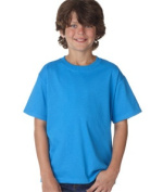 FOL 3930B Youth Heavy Cotton T-Shirt Pacific Blue Medium