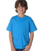 FOL 3930B Youth Heavy Cotton T-Shirt Pacific Blue Medium
