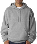 FOL 82130 Adult Supercotton Hooded Sweatshirt - Athletic Heather Medium