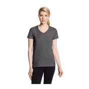 Champion Authentic 8875 Womens Jersey V-Neck Tee Extra Large Granite Heather