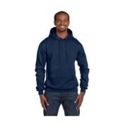 Hanes S700 Mens Double Dry Action Fleece Pullover Hood Navy Heather Blue - Extra Large