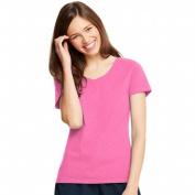Neon Pink Heather Womens X-Temp V-Neck T-Shirt - Size 2XL