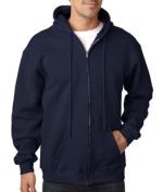 Bayside 900 Adult Hooded Full-Zip Fleece - Navy Medium