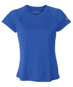 Champion CW23 Womens Double Dry V-Neck Tee - Royal Blue Large