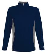 Champion S230 Adult Performance Colour-block Quarter-Zip Jacket - Navy & Stone Grey Medium