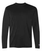 Champion CW26 Adult Double Dry Performance Long Sleeve T-Shirt Black - Medium