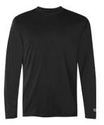 Champion CW26 Adult Double Dry Performance Long Sleeve T-Shirt Black - Medium