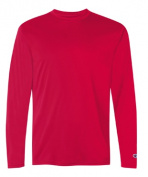 Champion CW26 Adult Double Dry Performance Long Sleeve T-Shirt Scarlet - Small