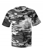 Code V 3665 Ladies Fine Jersey Camo Tee Urban Woodland - Small