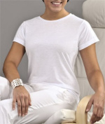 Sublivie 1510 Ladies Polyester T-Shirt White Small