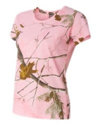 Code V 3685 Realtree Ladies Camouflage Short Sleeve T-shirt Realtree Ap - 2X